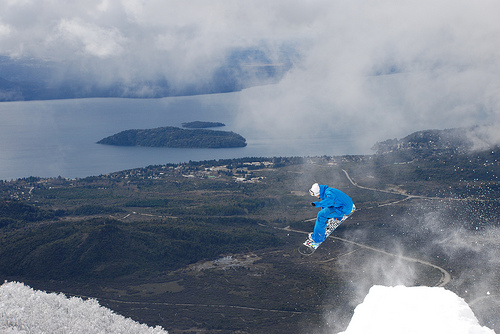 An image from the Argentina freestyle & freeride camp course