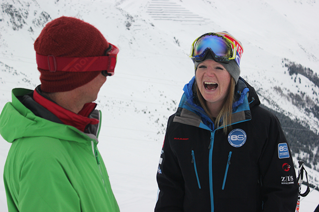 Peak Leaders, ski instructor course, Emma Cairns, Magnus Mill, Verbier, Switzerland