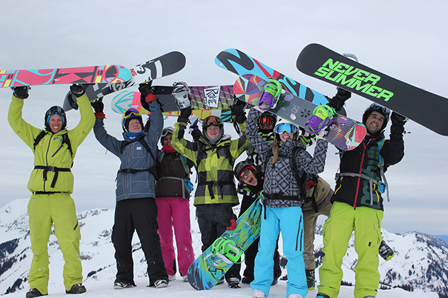 Peak Leaders, snowboard instructor course, avalanche safety training, Morzine, Mint Snowboarding