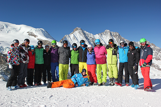 Peak Leaders Saas Fee, Switzerland, ski instructor course