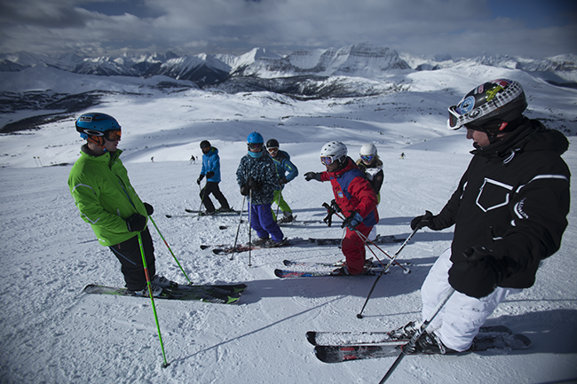 Sunshine Village Ski Resort, Peak Leaders, ski instructor course Banff, Canada