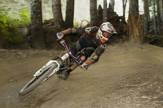 An image from the Whistler Bike Park Coaches Hiring Camp course