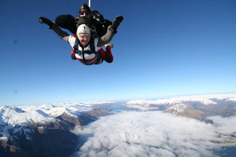 Skydiving over Queenstown
