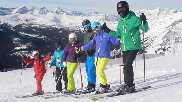 Peak Leaders Banff, Ski instructor course Banff, Canada, skiers, trainee ski instructors, Sunshine Village