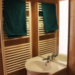 Typical bathroom on the Saas Fee ski instructor course