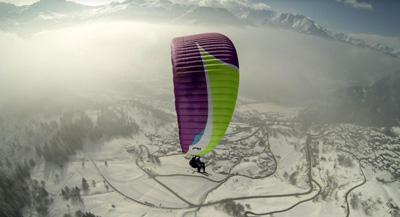 Verbier ski instructor Gap course extra activities - paragliding