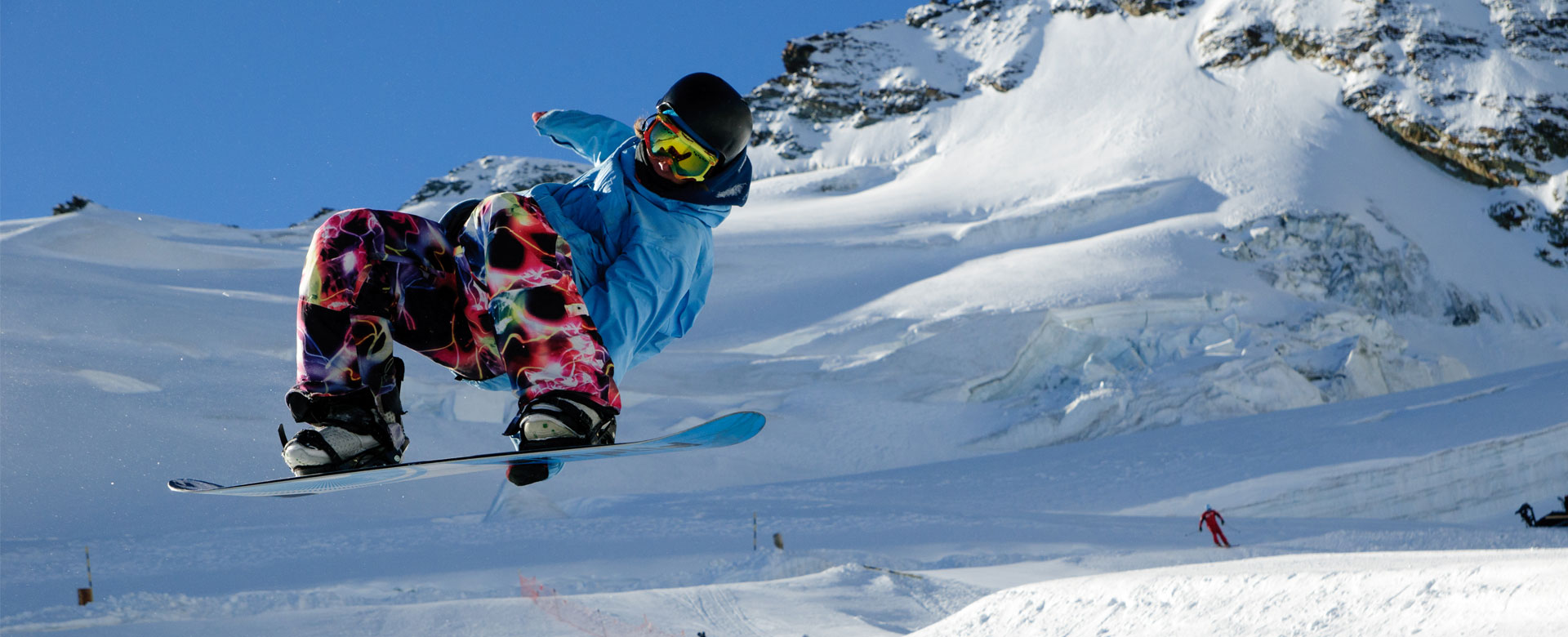 Saas Fee ski gap course and snowboard instructor training