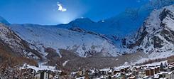Saas Fee ski and snowboard gap course