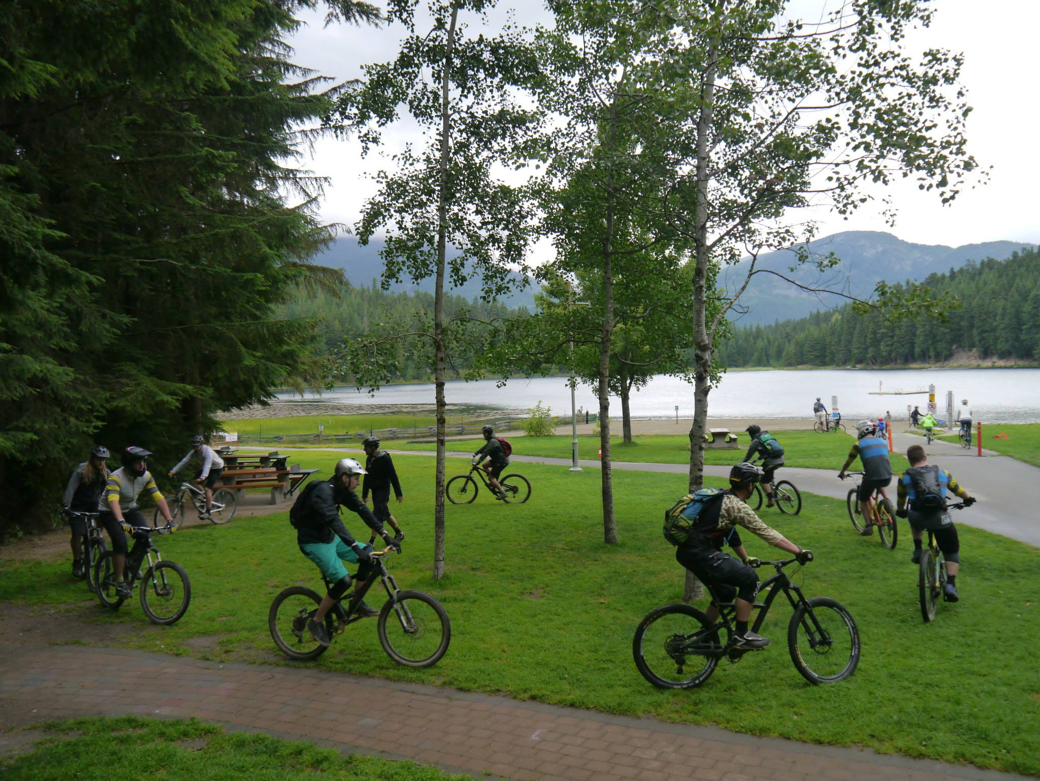 Coaches Camp trainees start with bike handling skills at Lost Lake