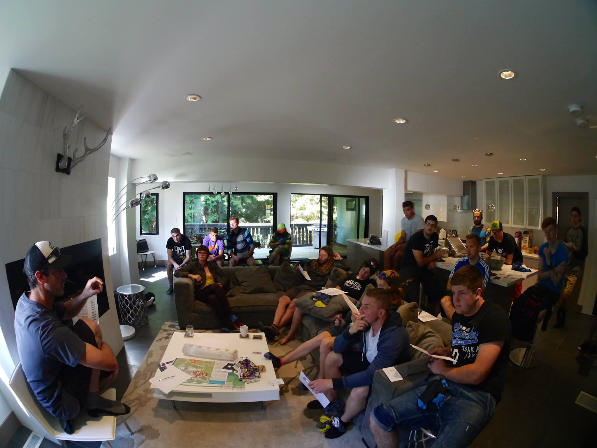 Coaches camp meet and greet at the chalet
