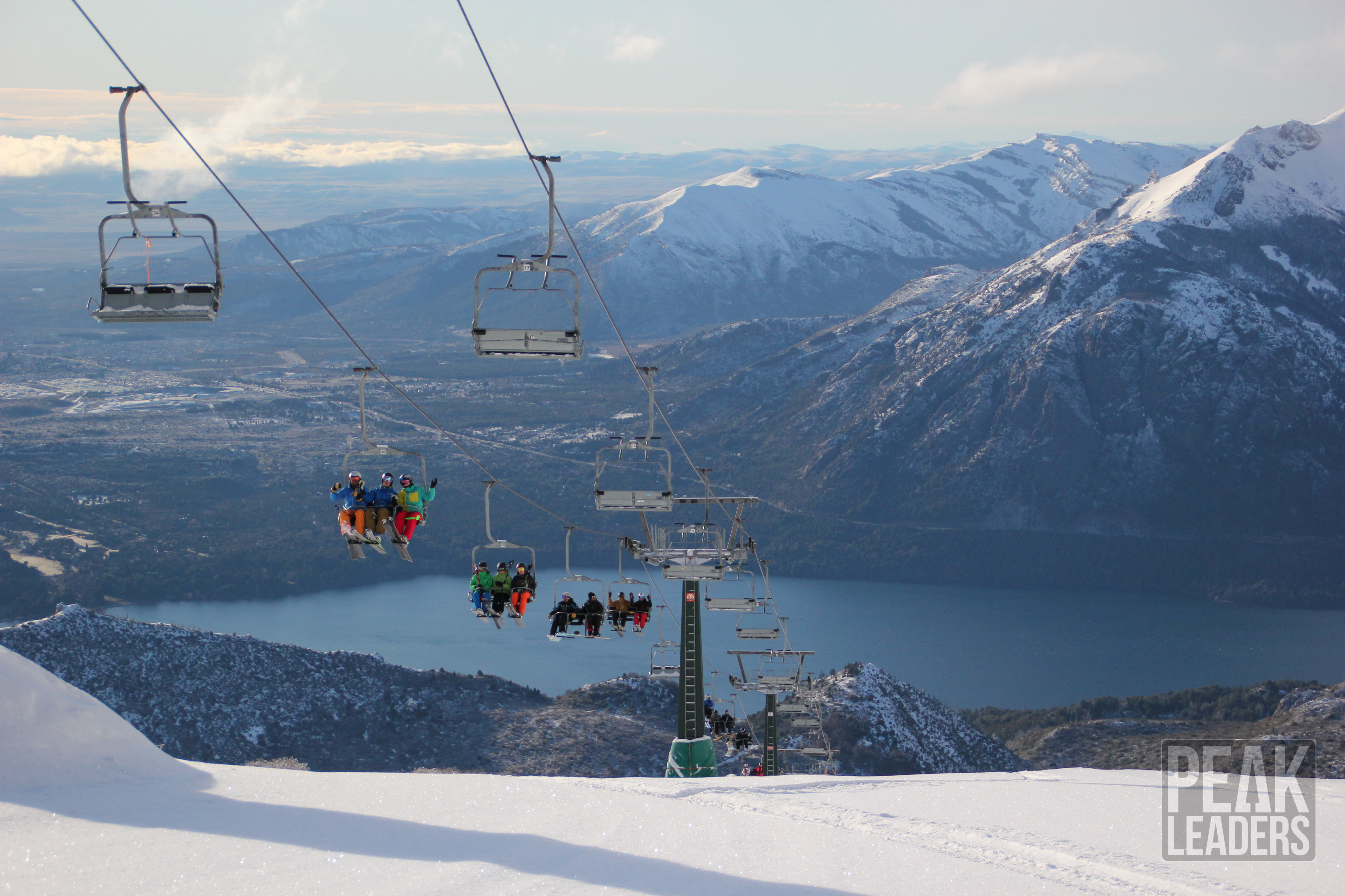 Mountain vistas and a chairlift point of view