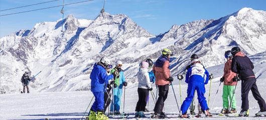 Saas Fee ski gap course and BASI ski instructor training