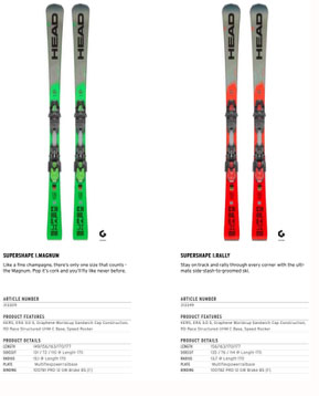 Head GAP course skis
